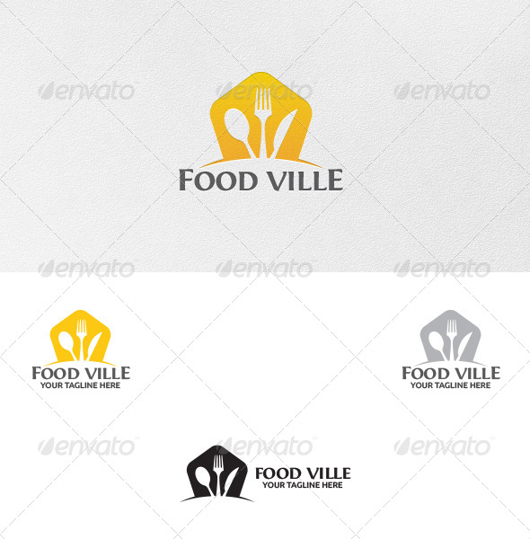 GraphicRiver Food Ville Logo Template 5232799