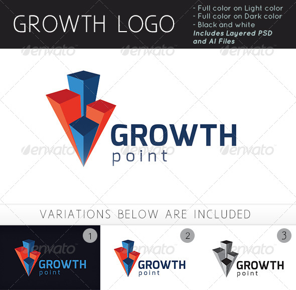 GraphicRiver Growth Point Logo 4945999