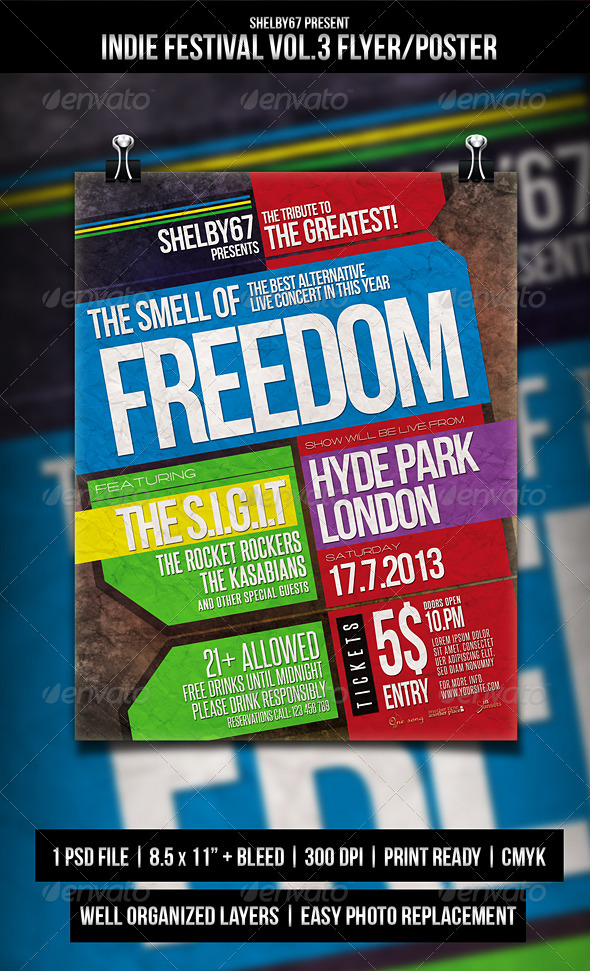 Indie Festival Flyer / Poster Vol.3 - Events Flyers
