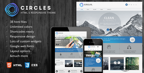 ThemeForest Circles Responsive HTML5 Template 5232858