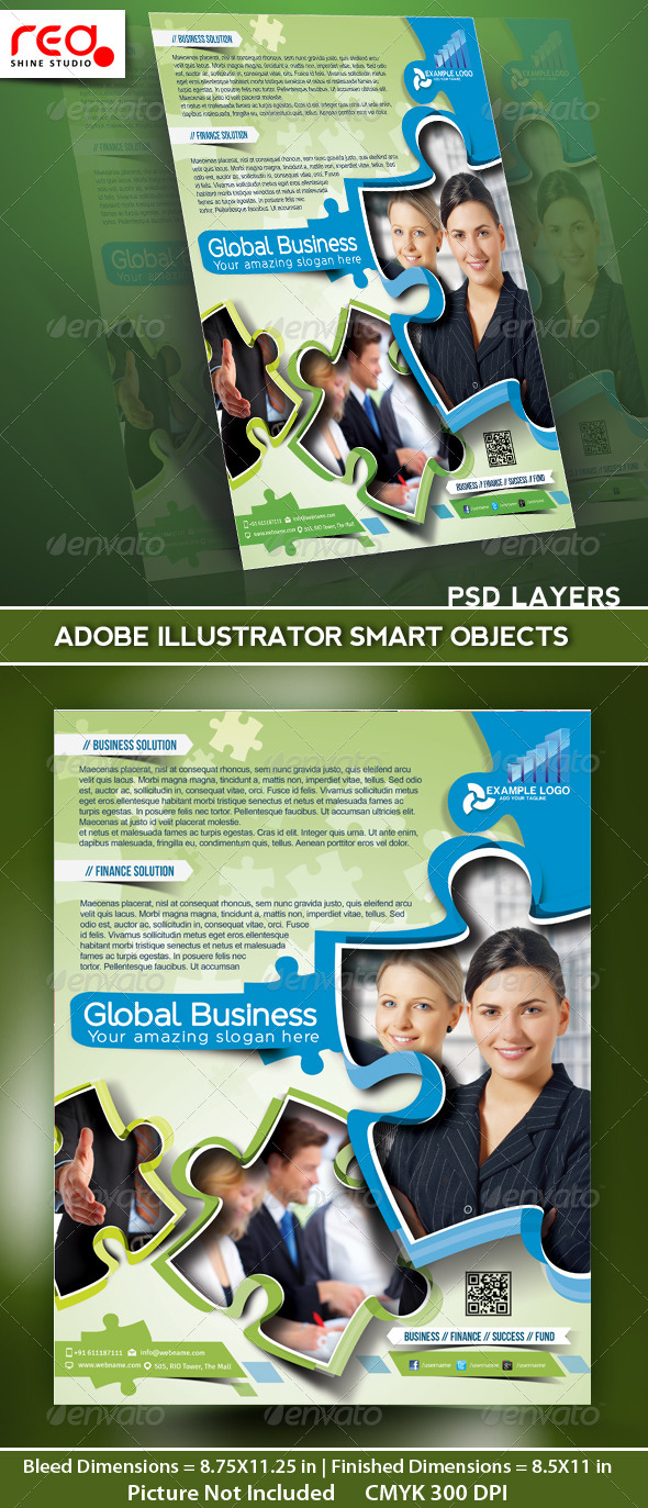 Global Business Flyer Poster Magazine Template