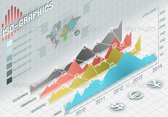 GraphicRiver Isometric Infographic Histogram Set Elements 5232923