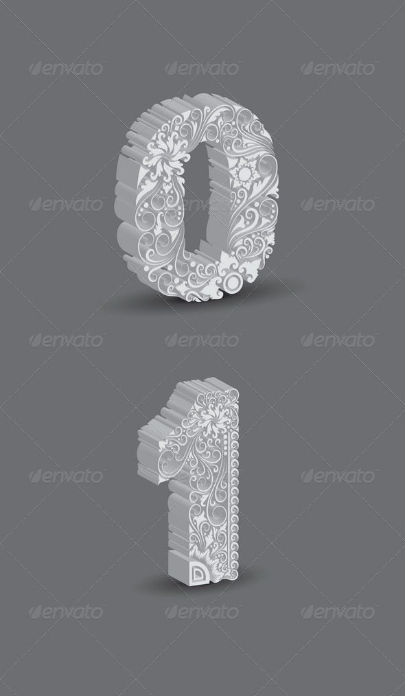 GraphicRiver Number Ornament Decorations 5233090