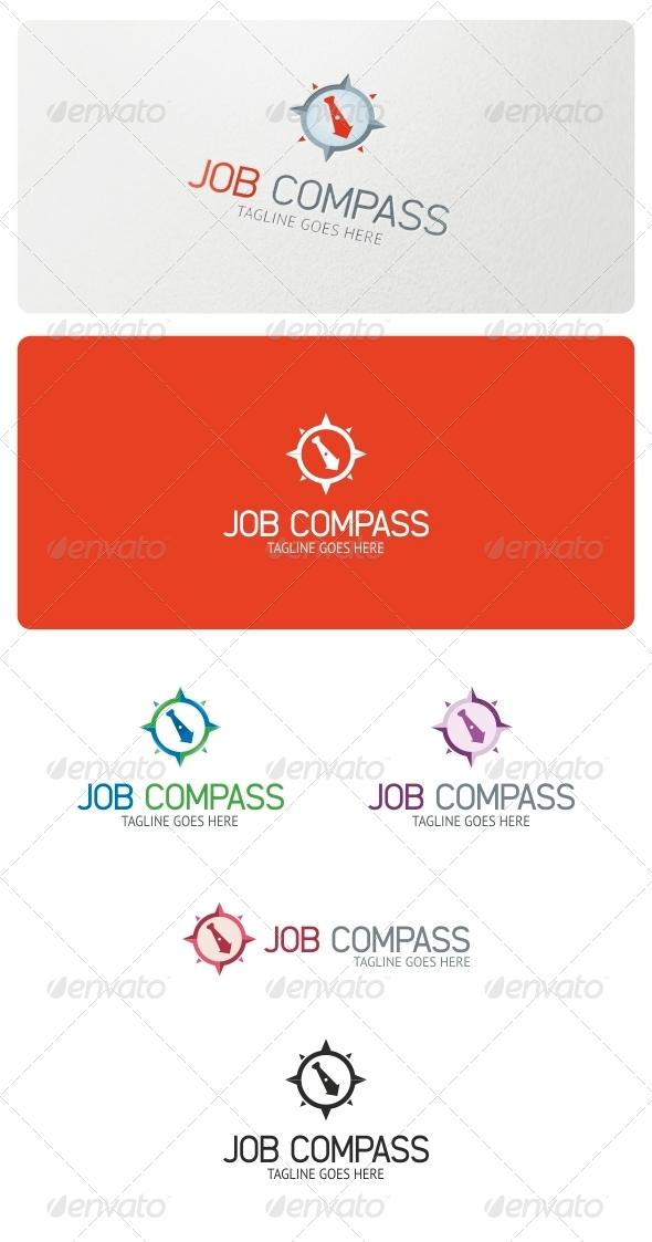 GraphicRiver Job Compass Logo Template 5233104