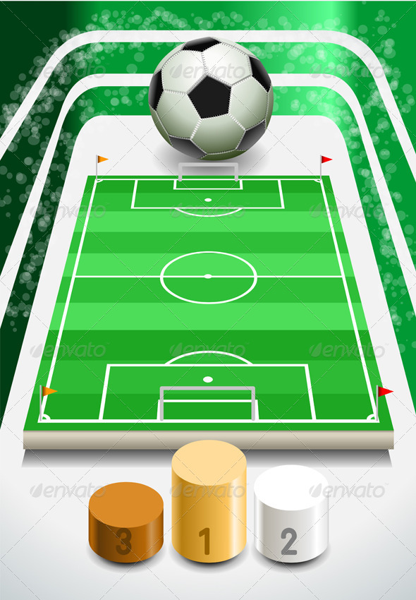 GraphicRiver Soccer Field with Soccer Ball and Podium 5233453