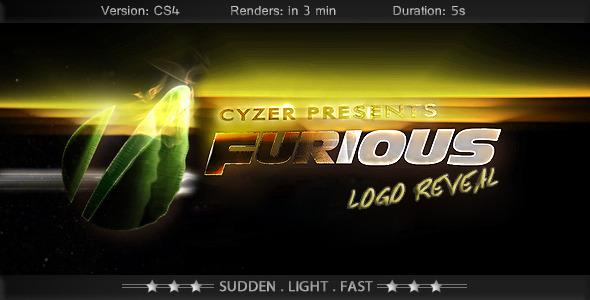 Furious Logo Fast Powerful Simple Reveal