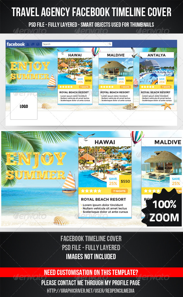Travel Agency Facebook Timeline Cover - Facebook Timeline Covers Social Media