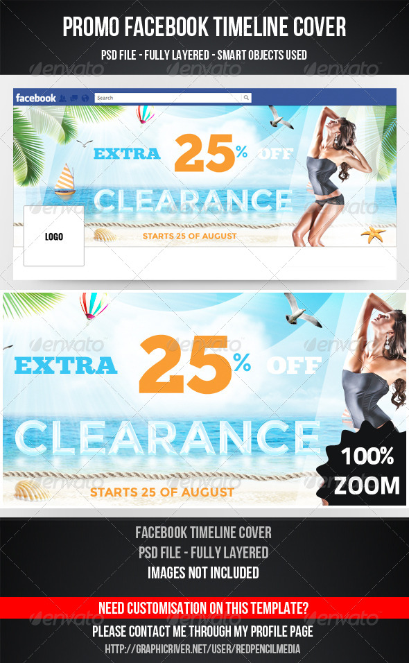 GraphicRiver Promo Facebook Timeline Cover 5234179