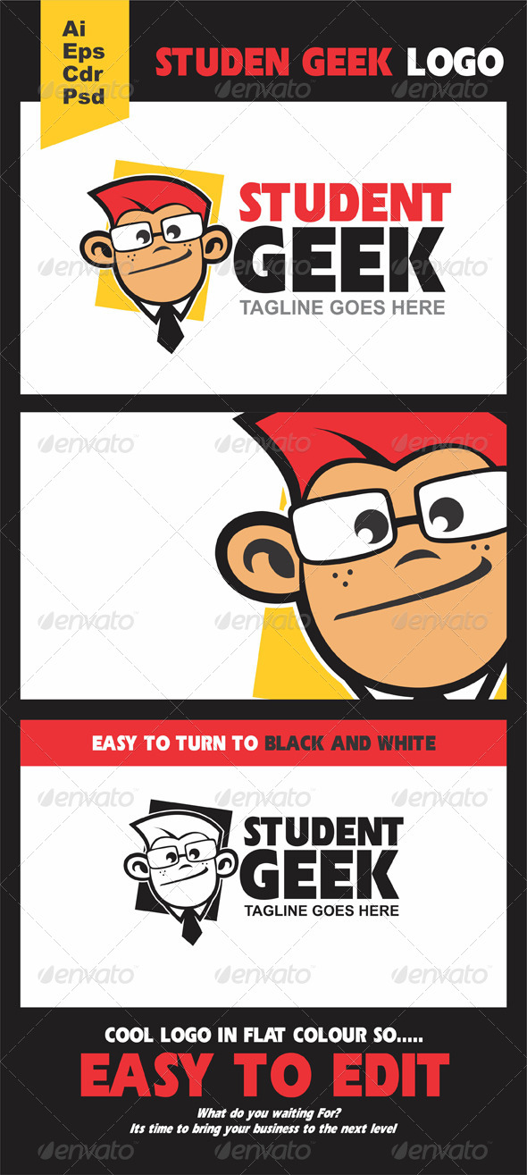 GraphicRiver Student Geek Logo 5222624