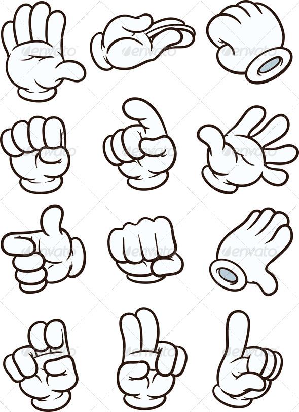 GraphicRiver Cartoon Hands 5234436