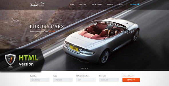 Autotrader – car marketplace html theme – Over millions vectors ...