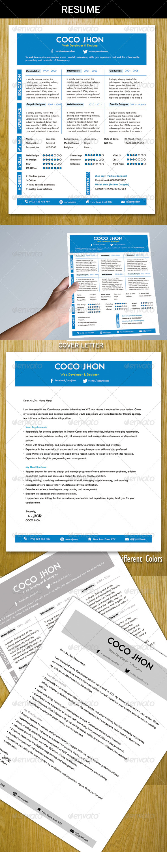 GraphicRiver Resume Template 5171608