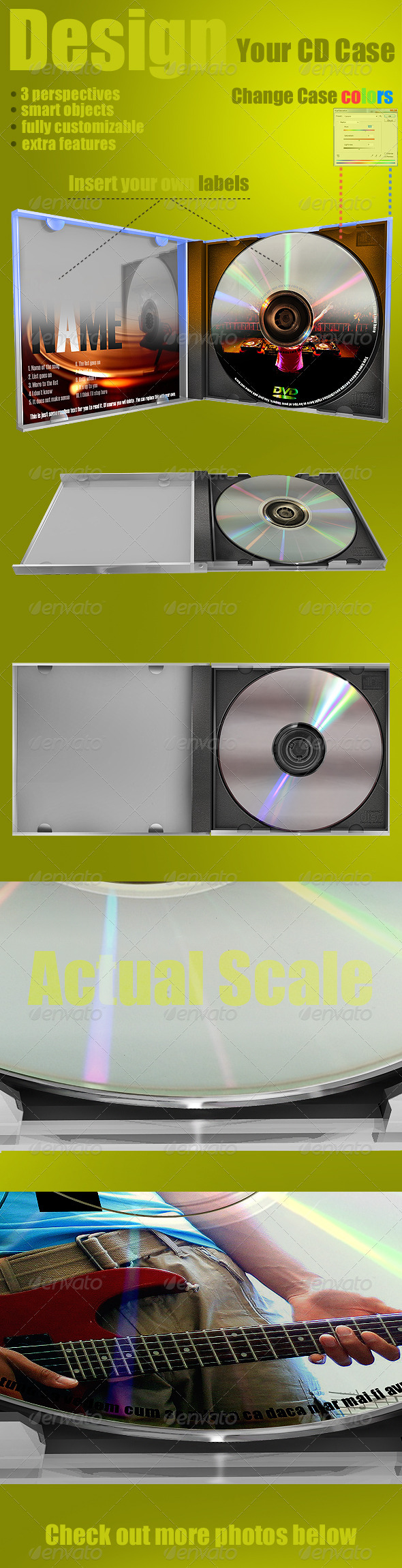 CD Template : Case and Label - Discs Packaging