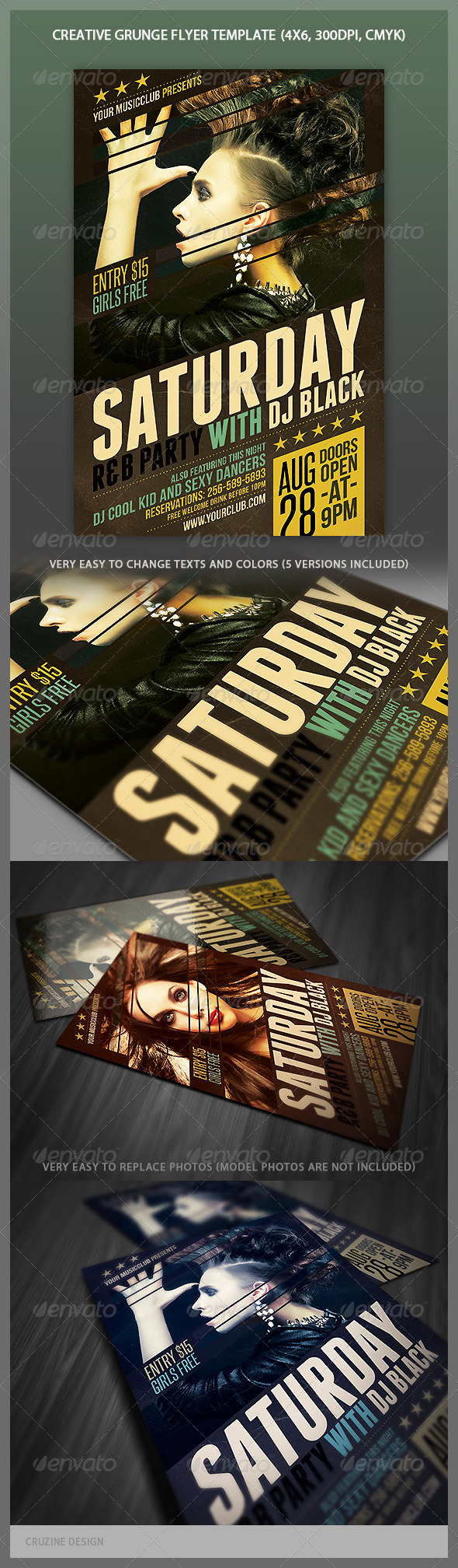 GraphicRiver Creative Grunge Flyer 5234921