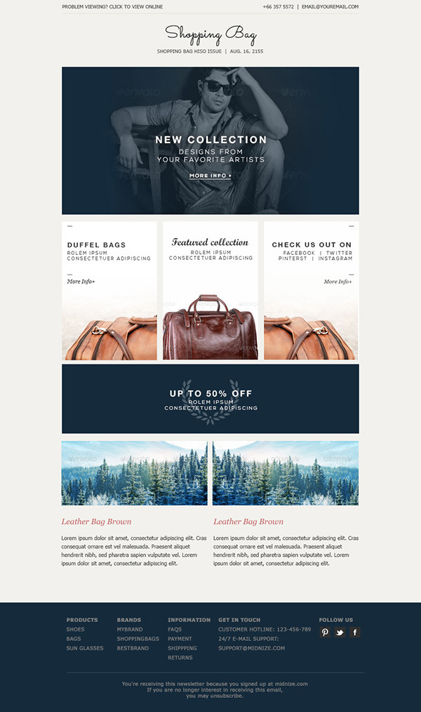 Shopping Bag Responsive Ecommerce Email Template By