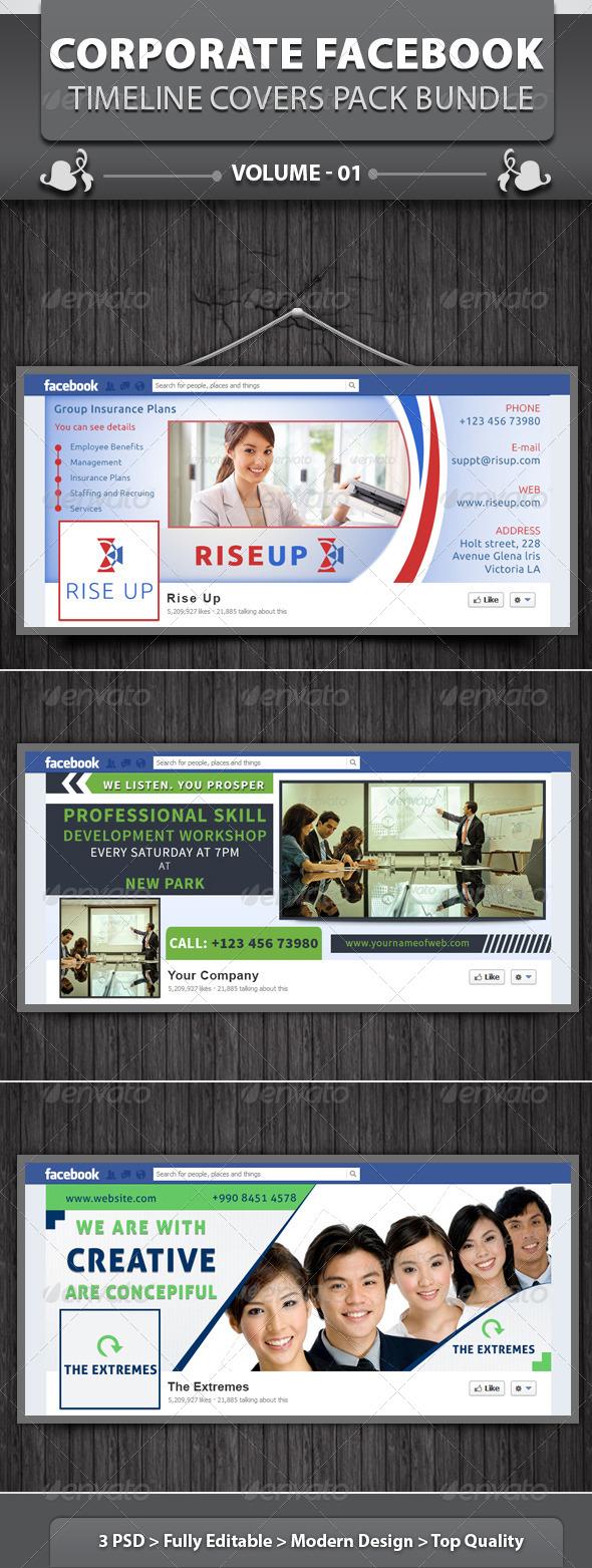 GraphicRiver Corporate Facebook Timeline Covers Pack Bundle v1 5218526