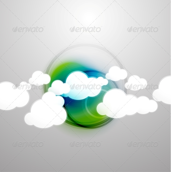GraphicRiver Clouds Technology Design 5235154