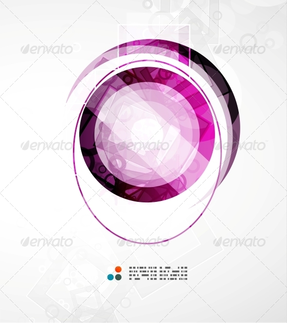 GraphicRiver Futuristic Circle Abstract Background 5235293