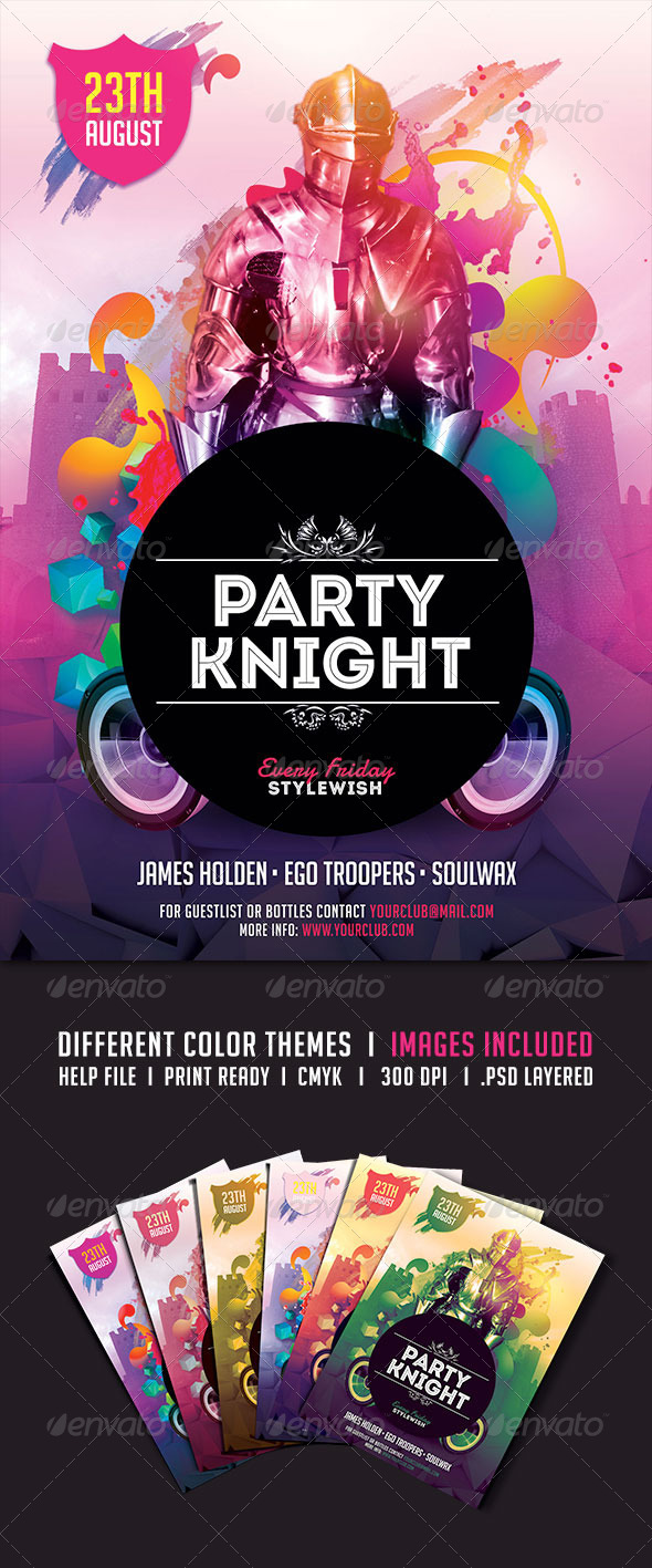 GraphicRiver Party Knight Flyer 5235594