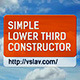 Simple Lower Third Constructor - VideoHive Item for Sale
