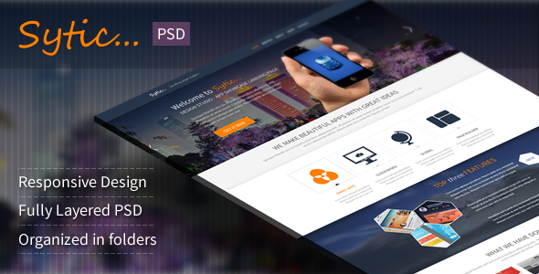 ThemeForest Sytic Multi-Purpose PSD Landing Page 5236007