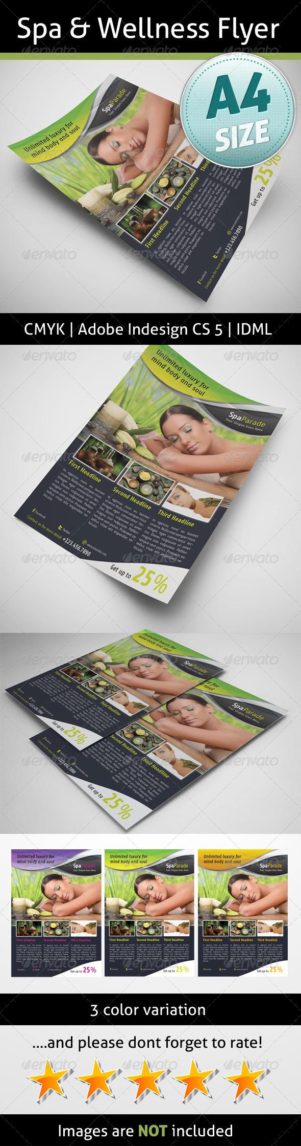 GraphicRiver Spa & Wellness Flyer 5181273