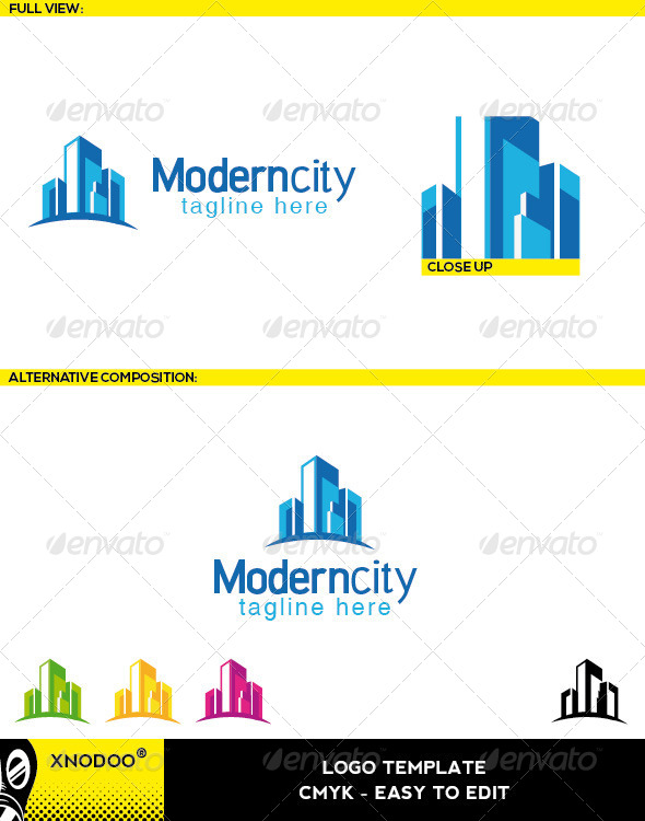 Moderncity Logo - Buildings Logo Templates
