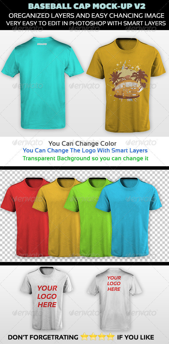 GraphicRiver T-Shirt Mock-up V2 5236898