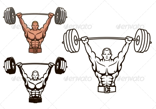GraphicRiver Bodybuilder with Barbell 5237457