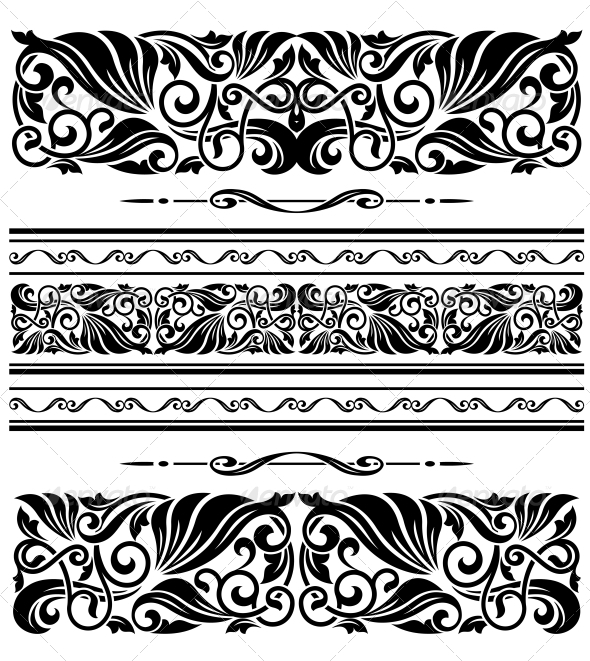 Decorative Ornaments and Patterns - Borders Decorative