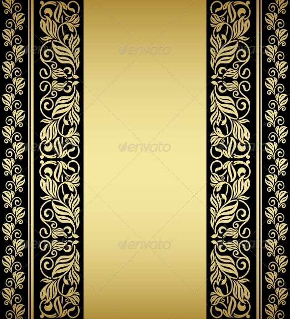 Gilded Floral Elements and Patterns - Flourishes / Swirls Decorative