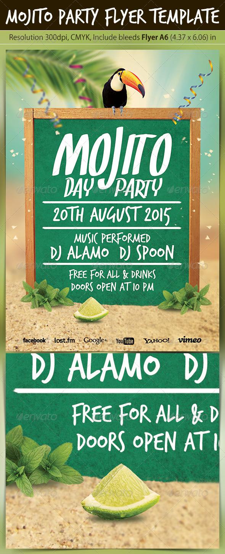 GraphicRiver Mojito Party Flyer Template 5237509
