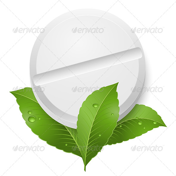 GraphicRiver Tablet and Leaves 5237611