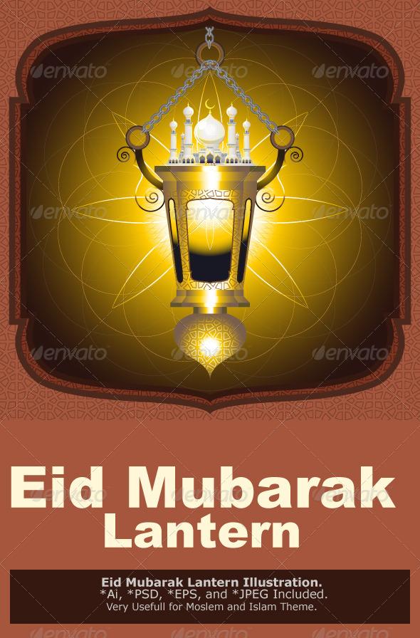 GraphicRiver Eid Mubarak Lantern 5237612