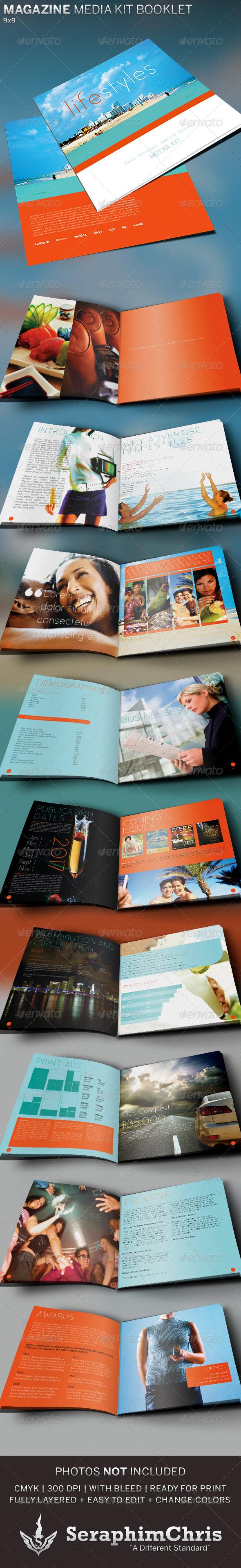 GraphicRiver Magazine Media Kit Booklet Template 5237774