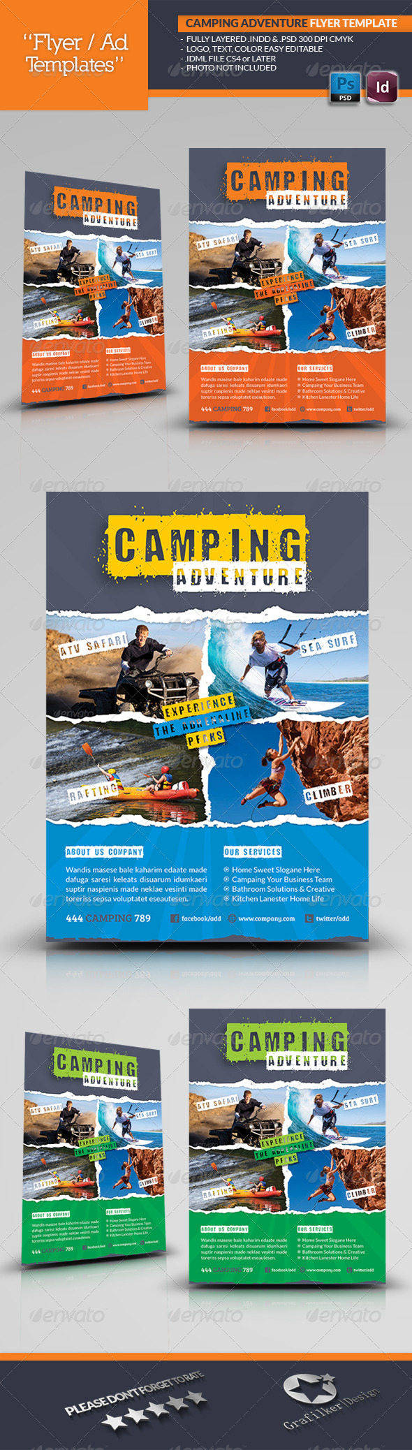 Camping Adventure Flyer Template - Corporate Flyers