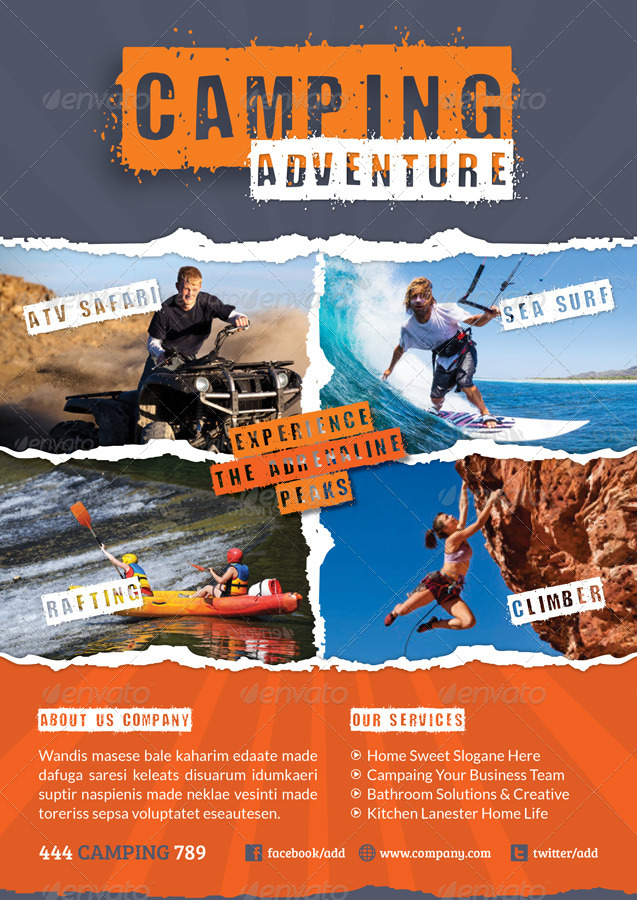 Camping Adventure Flyer Template - GraphicRiver Previewer