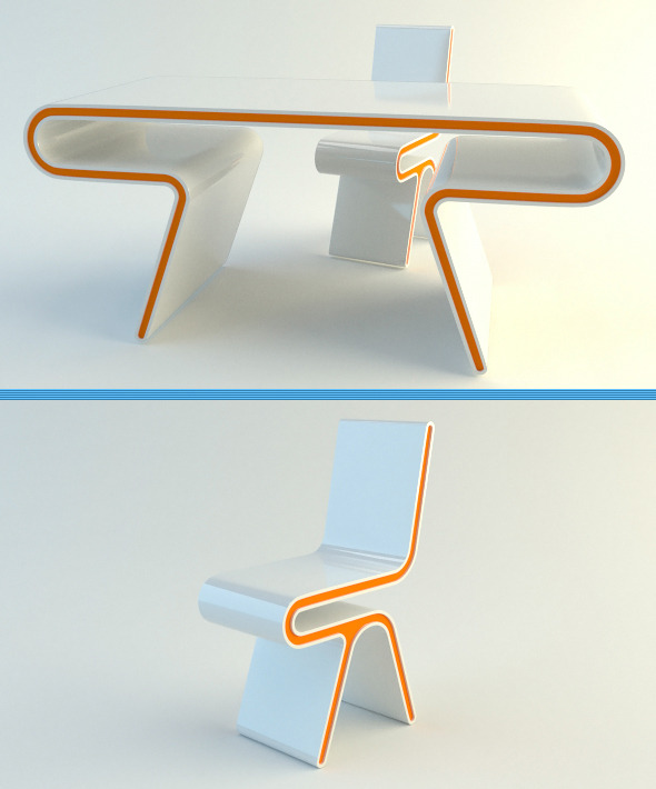 3DOcean Modern Table 5238106
