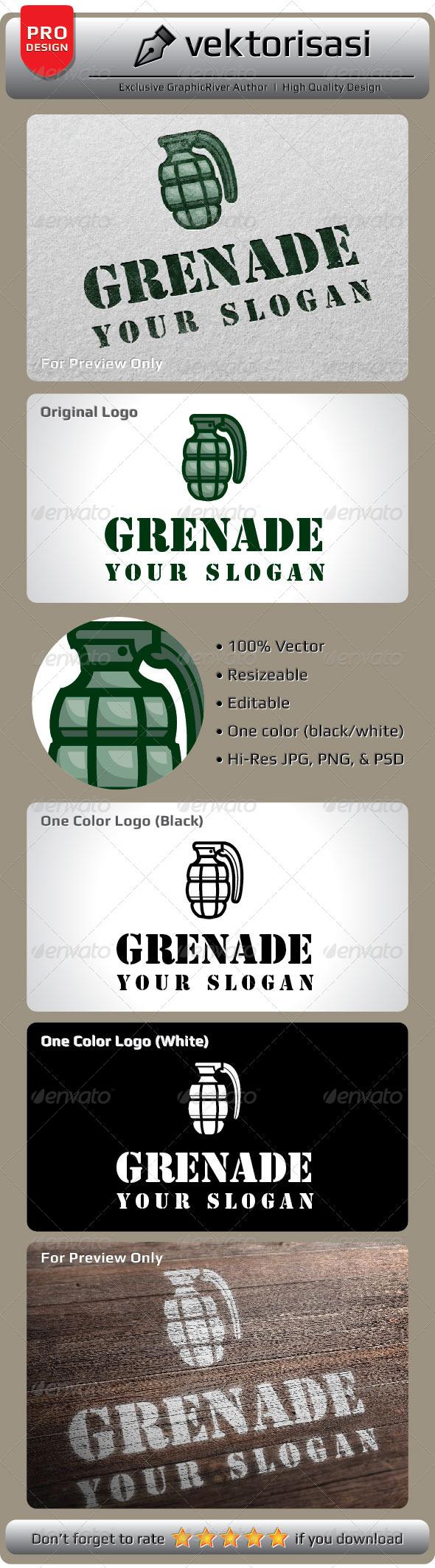 GraphicRiver Grenade Logo 5238165