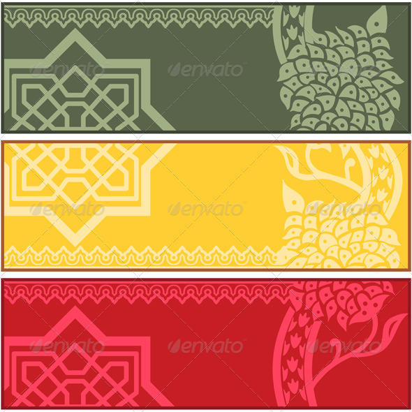 GraphicRiver Banners with Islamic Ornaments 5238274