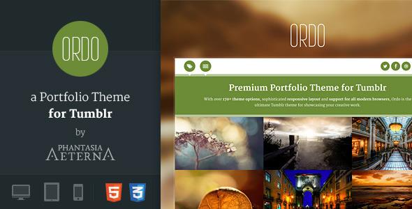 View live Demo for Ordo - Optimized Responsive Tumblr Portfolio Theme