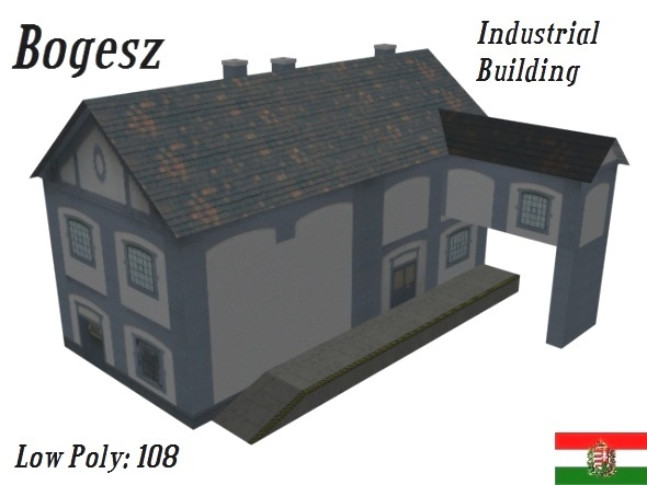 3DOcean Textured Industrial Building Low Poly 5233622