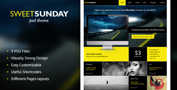 ThemeForest SweetSunday Fully responsive creative HTML templ 5147425