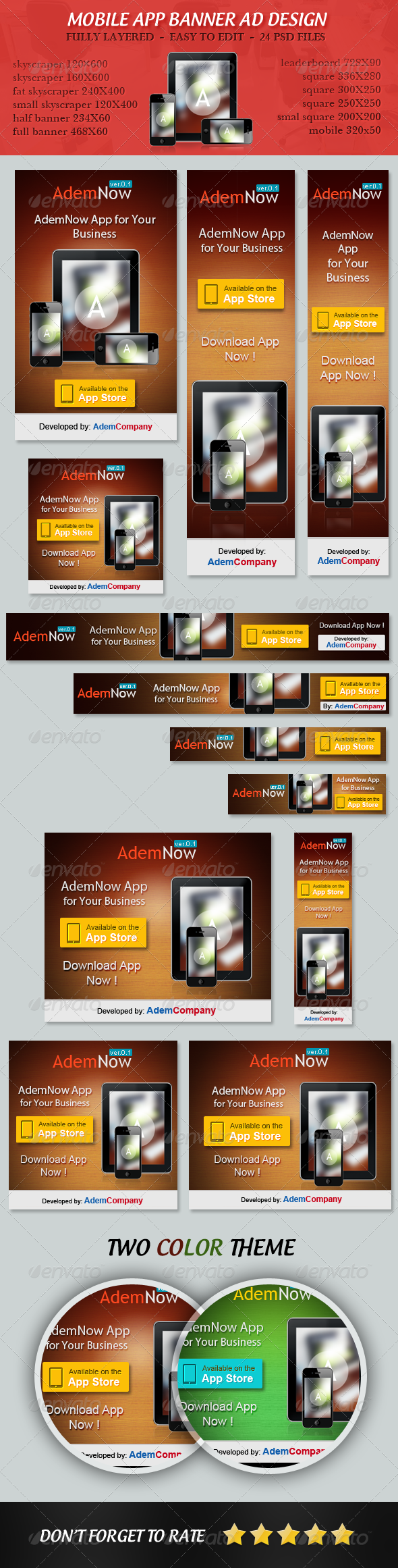 GraphicRiver Mobile App Banner ad Set 5238693
