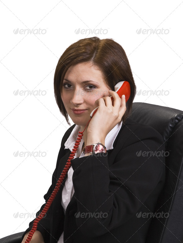 Woman on the Phone  - Stock Photo - Images