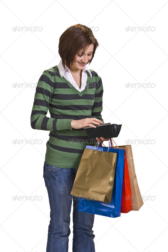 Woman Out Shopping  - Stock Photo - Images