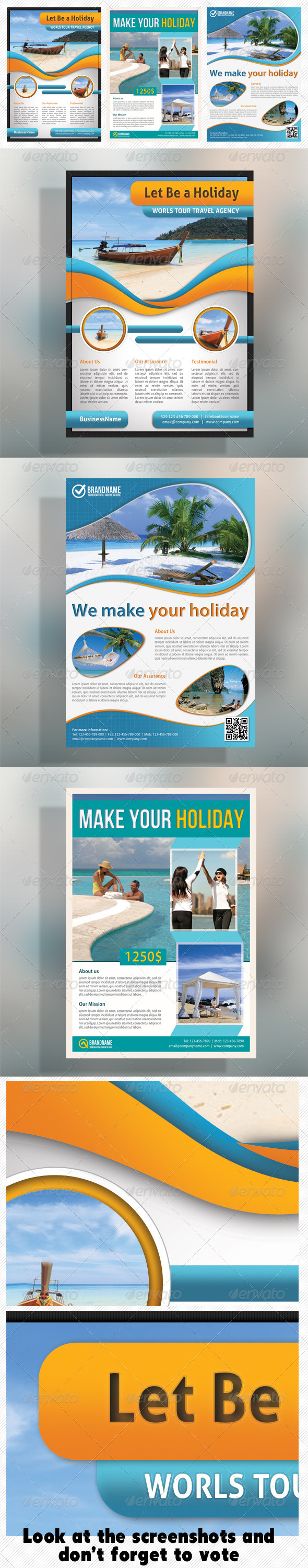 GraphicRiver Corporate Travel Product Flyer Bundle 5239719