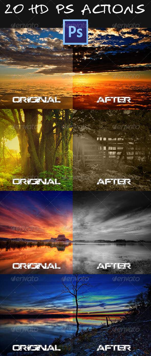 GraphicRiver 20 HD PS Actions 5220138