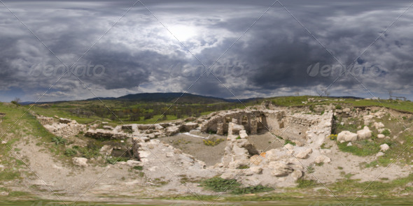 3DOcean HDRI Archaeological Excavation Area And The Hills 5239888