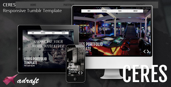 ThemeForest Ceres Responsive Tumblr Portfolio Template 5240143
